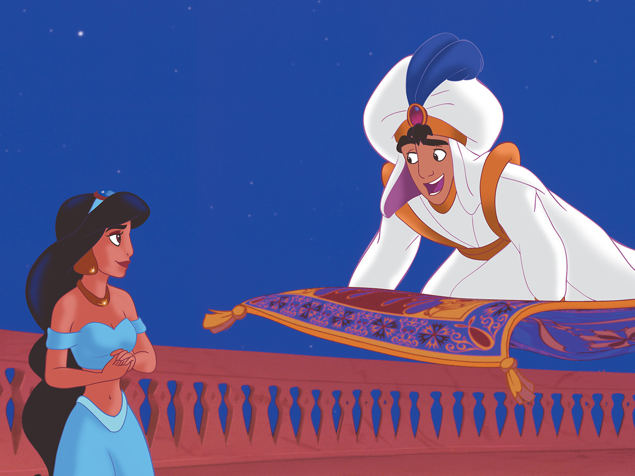 A still from the kids' animated movie Aladdin