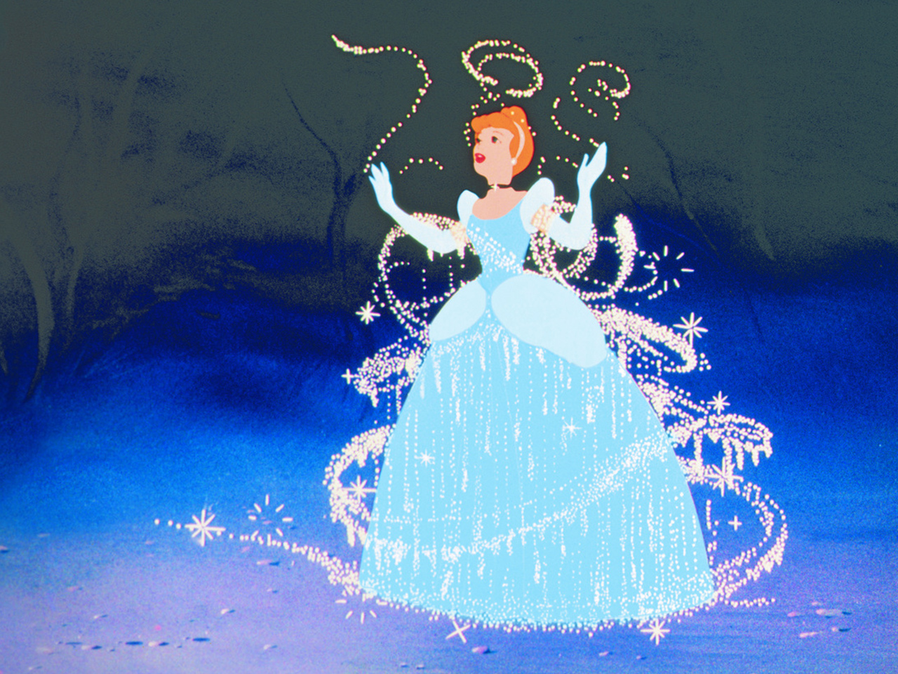 A still from the kids' animated movie Cinderella