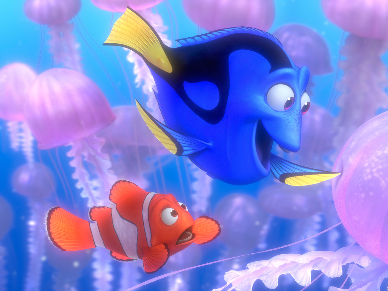A still from the kids' animated movie Finding Nemo
