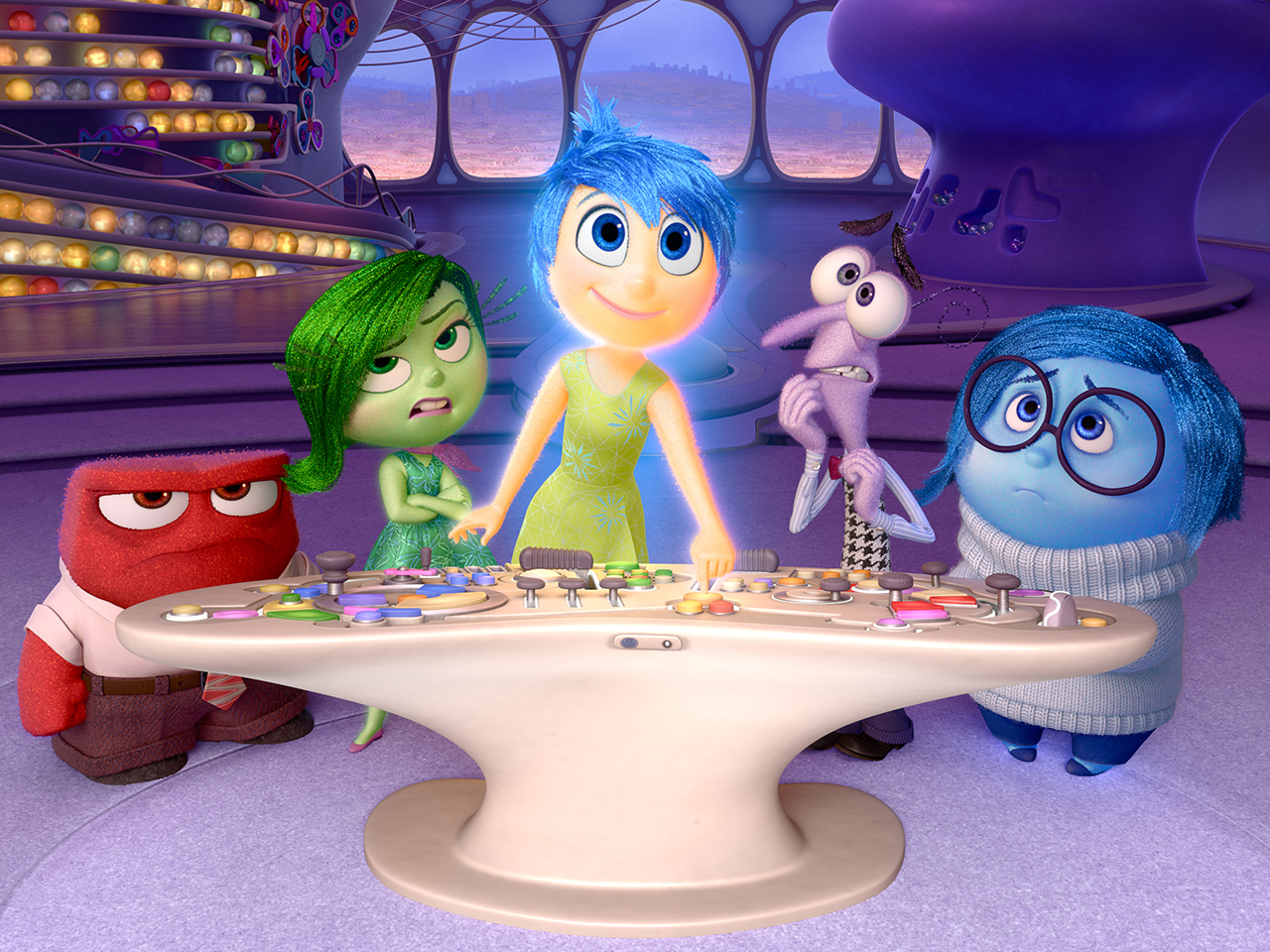 A still from the animated kids' movie Inside Out