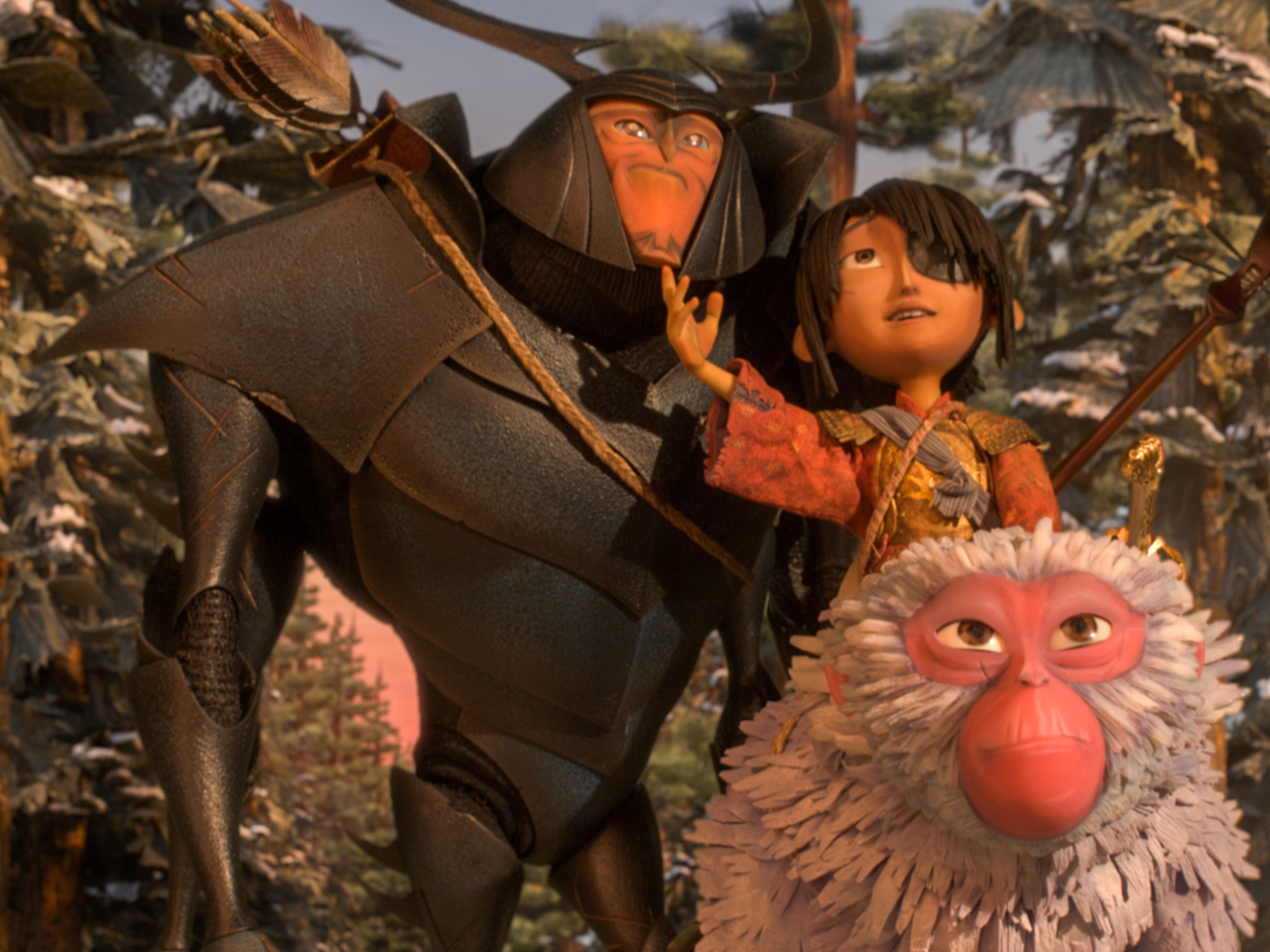 A still from the kids' animated movie Kubo and the Two Strings