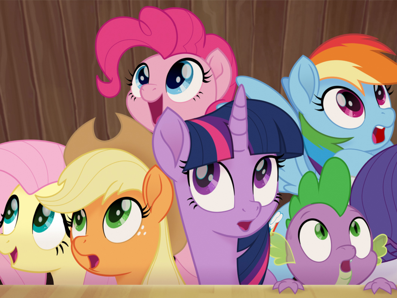 A still from the kids' animated movie My Little Pony: The Movie