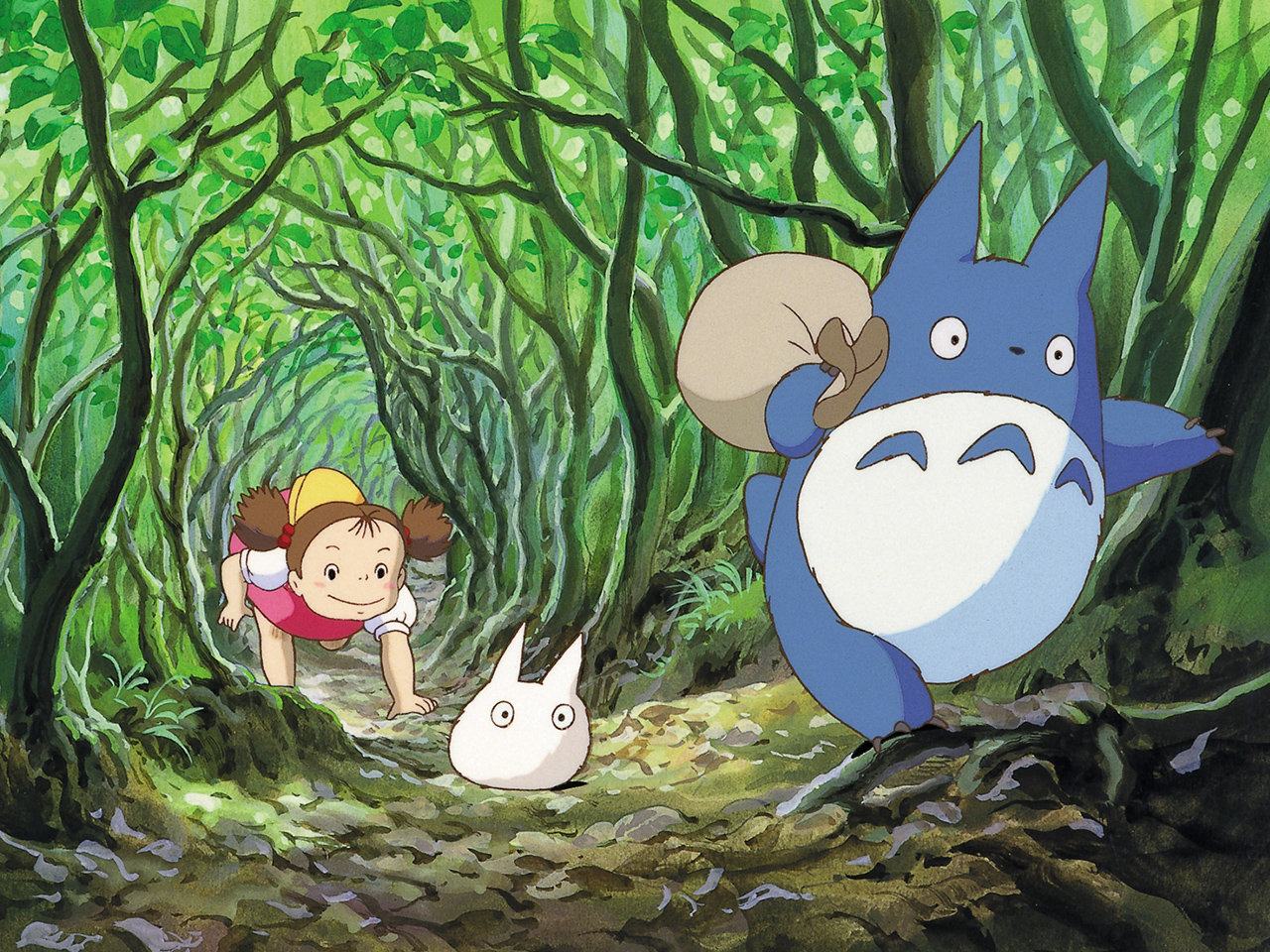 A still from the animated kids' movie My Neighbor Totoro