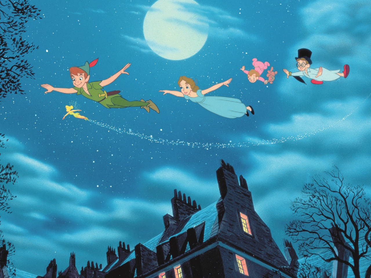 A still from the kids' animated movie Peter Pan