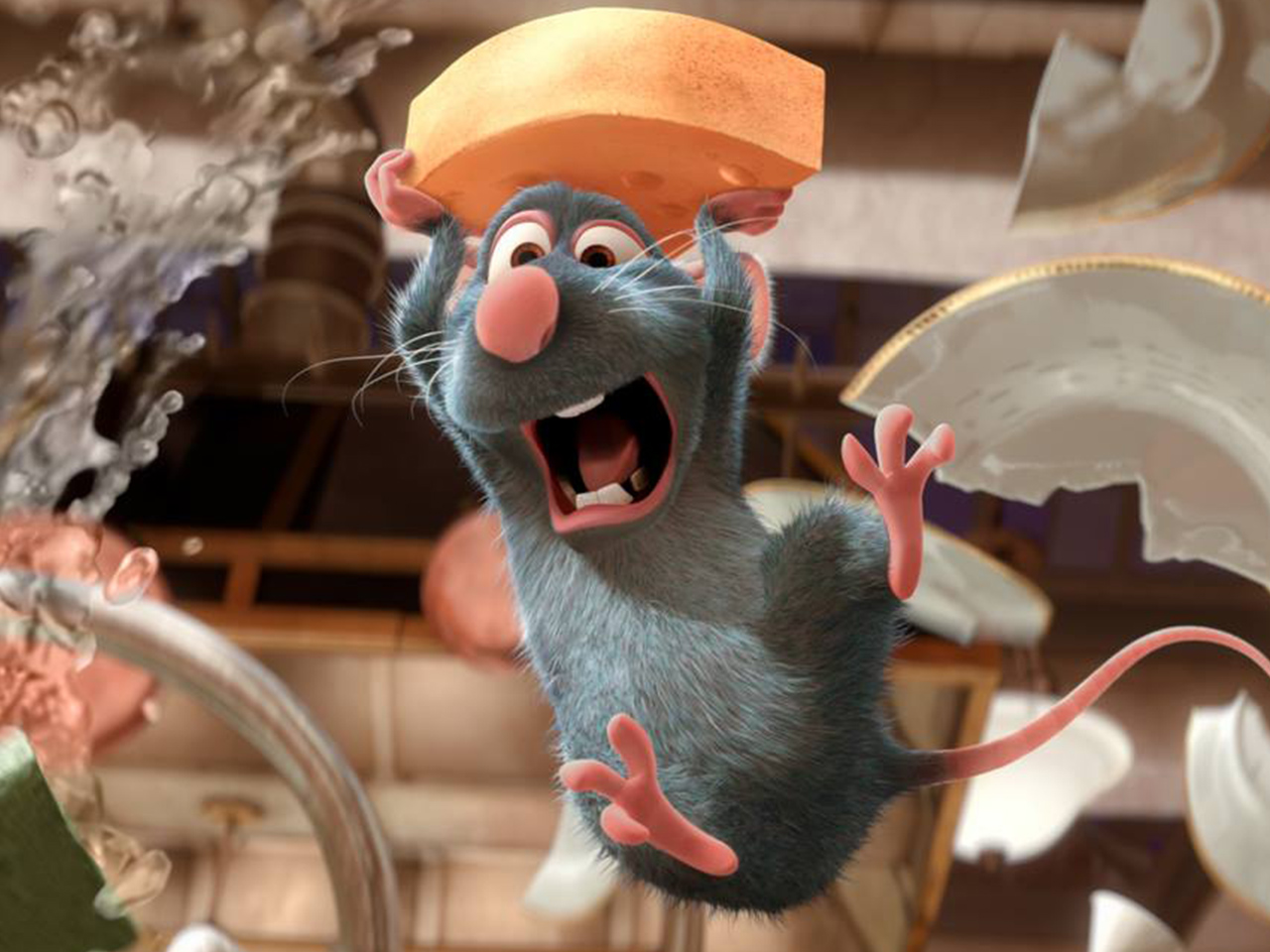 A still from the kids' animated movie Ratatouille