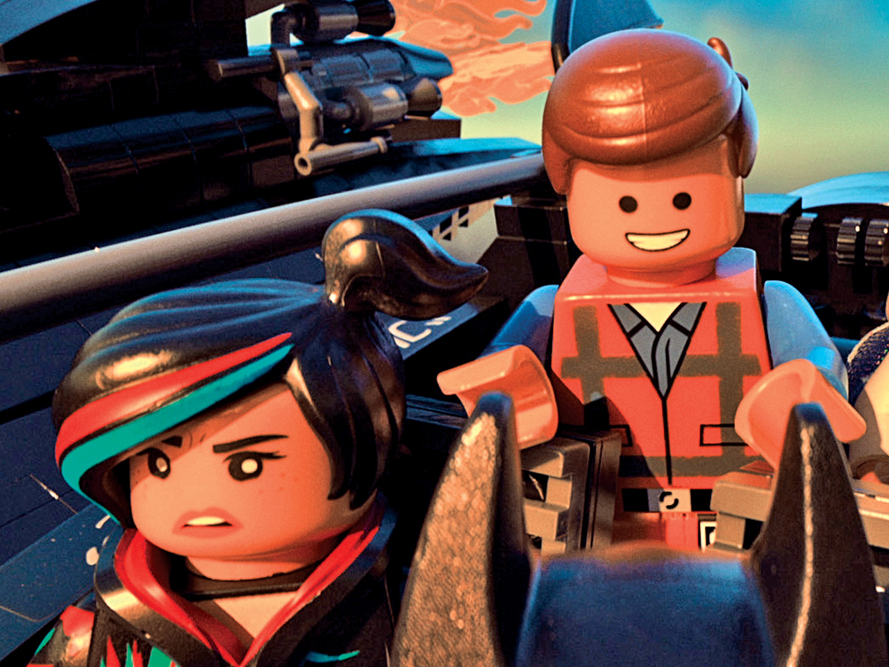 A still from the kids' animated movie The LEGO movie