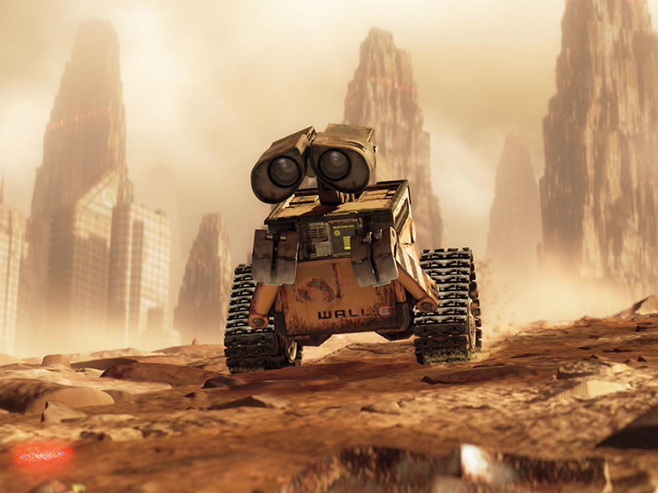 A still from the kids' animated movie Wall-E