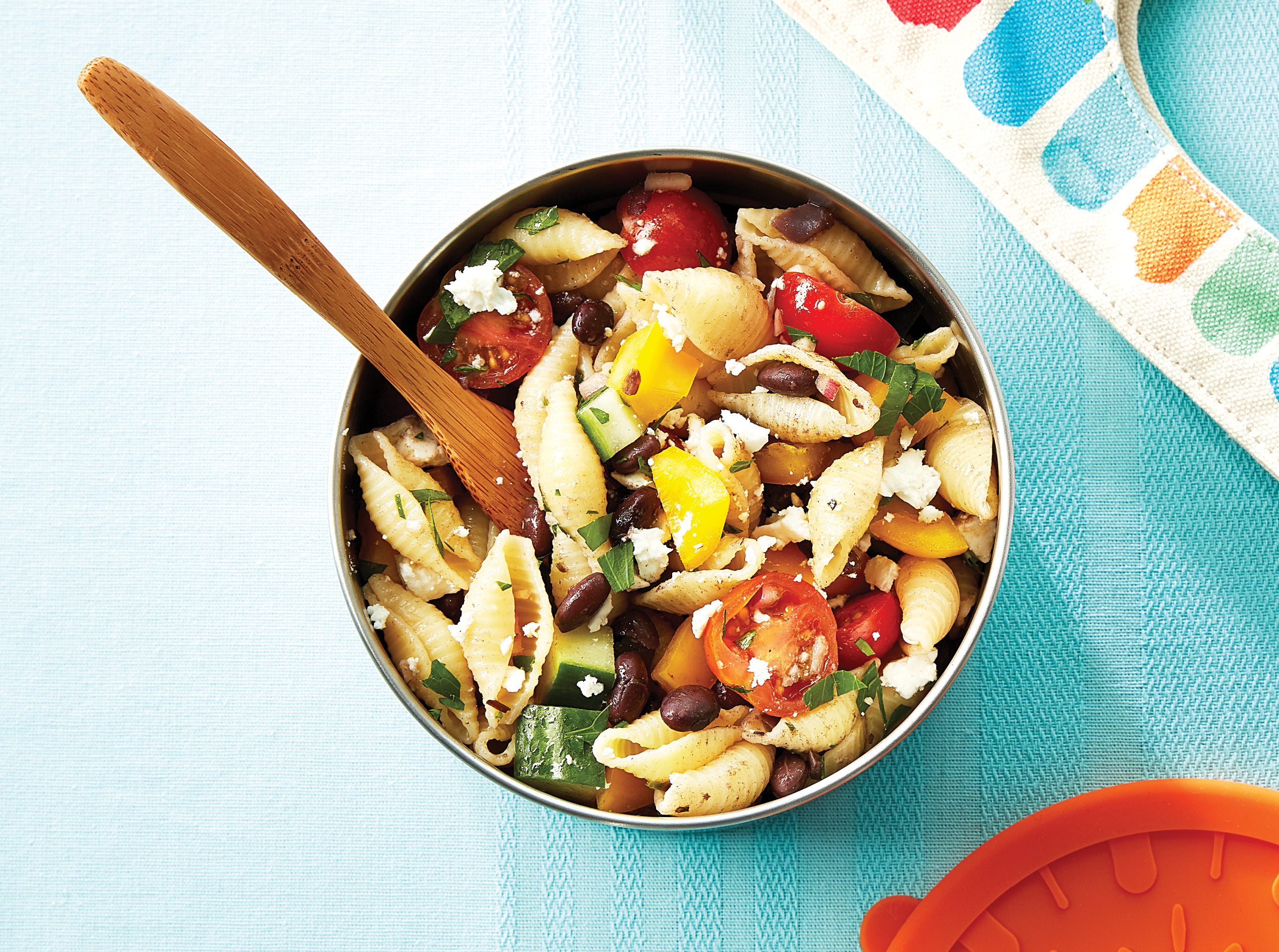Greek Pasta Salad with Black Beans