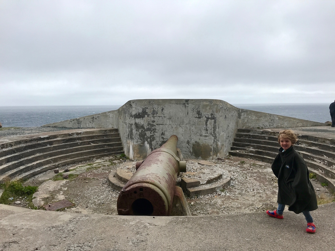 Cape Spear old gun and Charlie