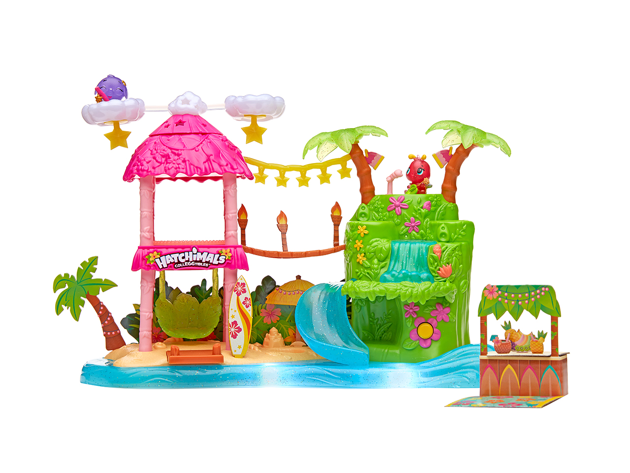 Hatchimals Colleggtibles Tropical Party Playset: A tropical island party play set