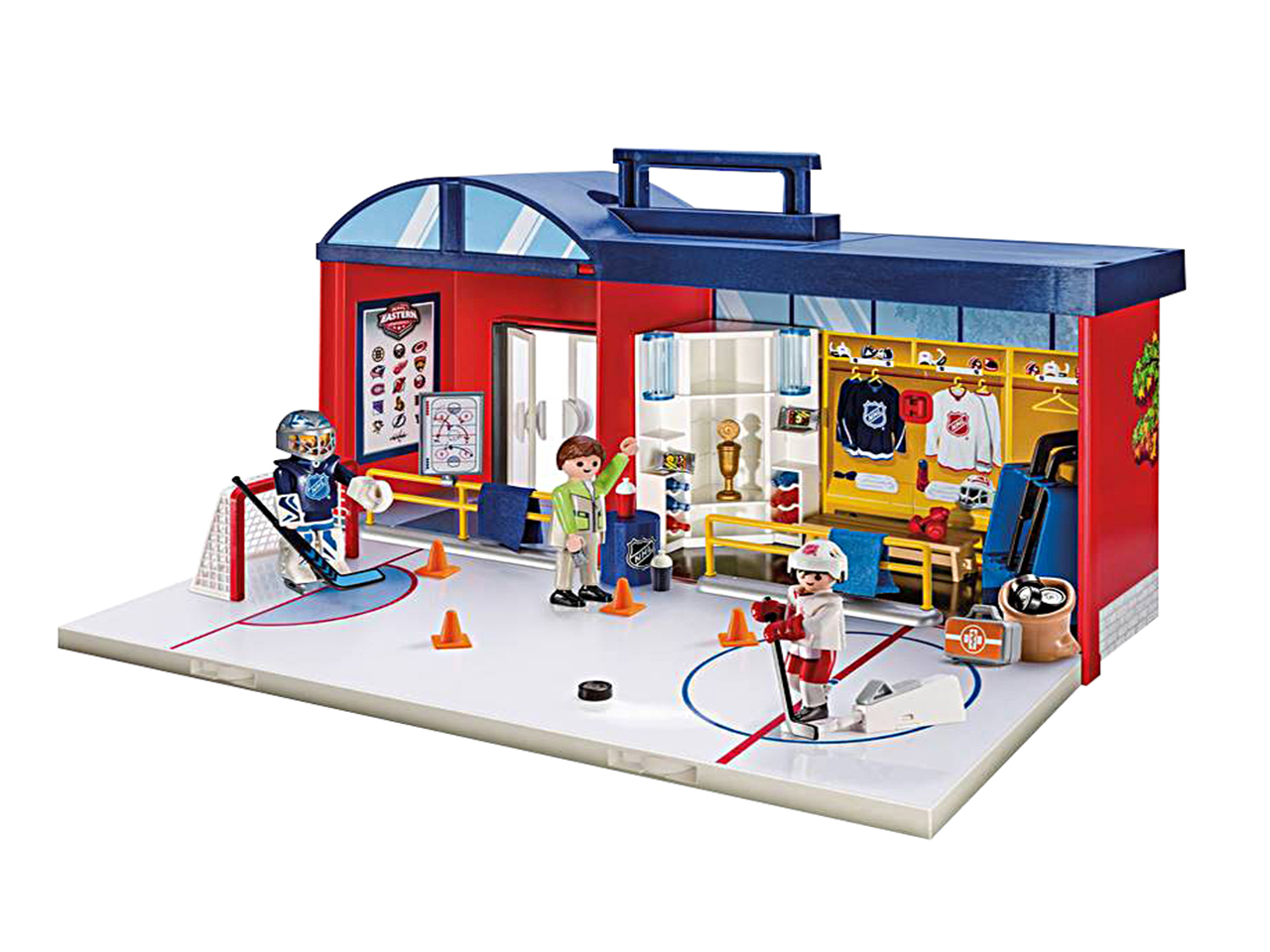 Playmobil NHL Take Along Arena: An NHL-themed playset including an ice rink and locker room