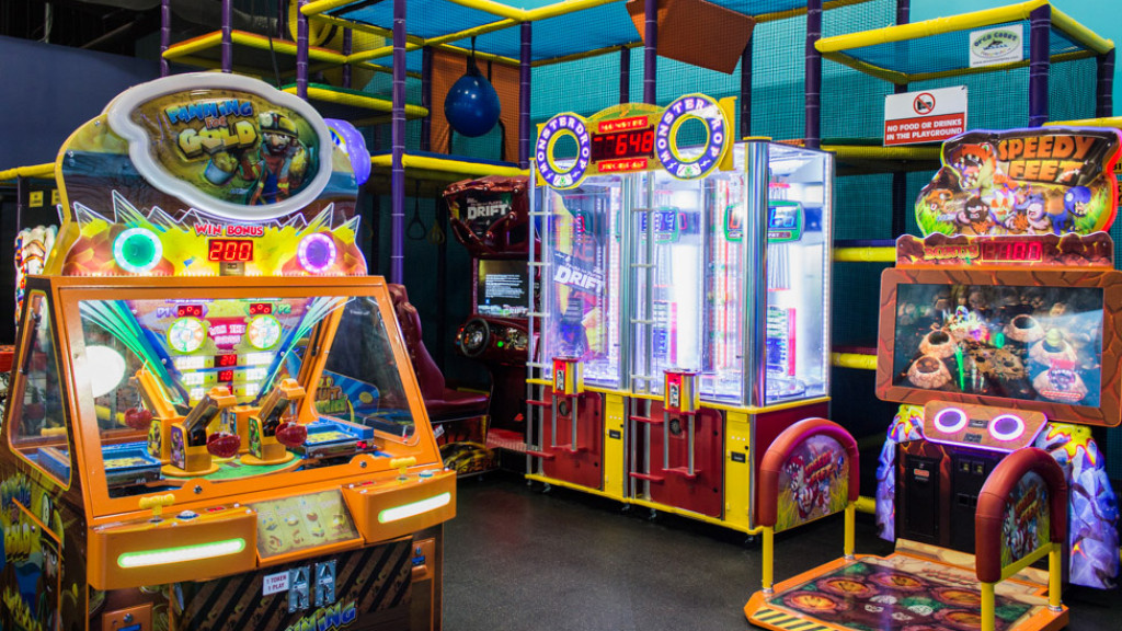 Games and play structure at Area 51 Lasertag Planet Play