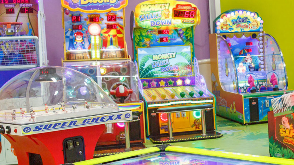 Arcade games at Playcious indoor playground