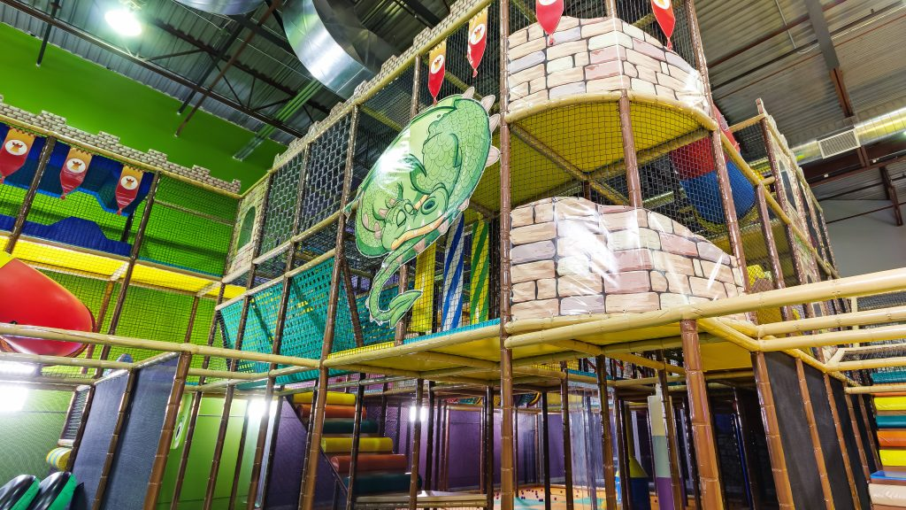 Play structure at Playtopia indoor playground