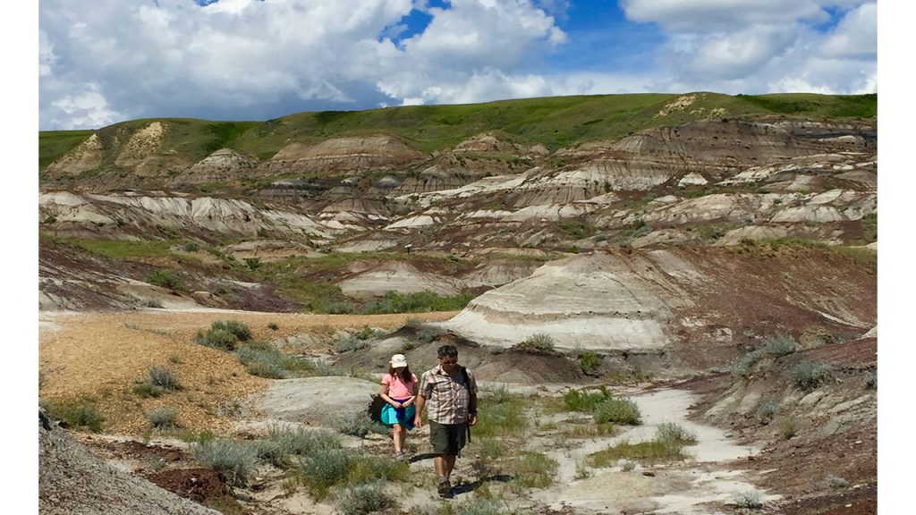 Alberta badlands_fossil hunting