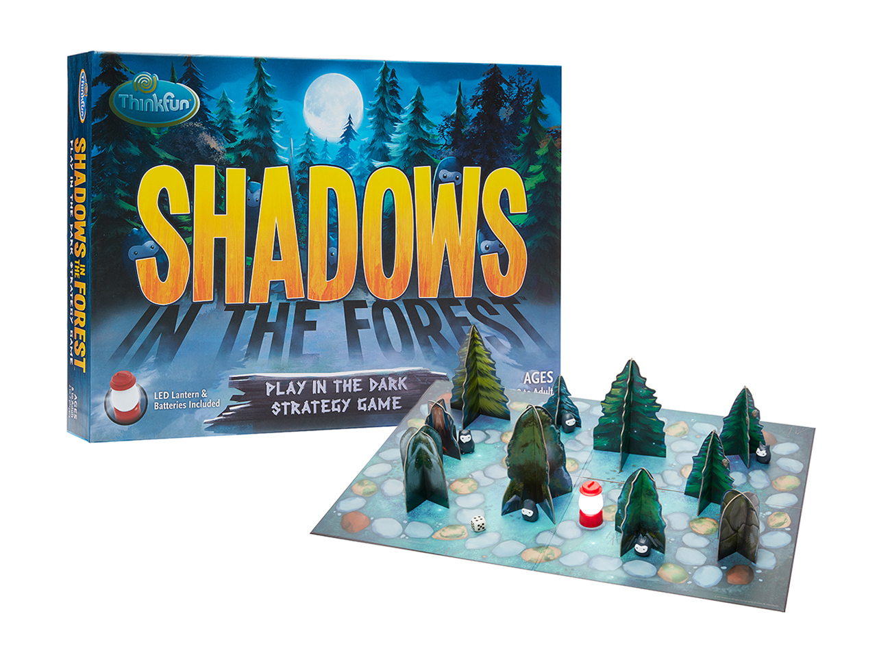 Shadows in the Forest game: A strategic board game with a nighttime forest theme