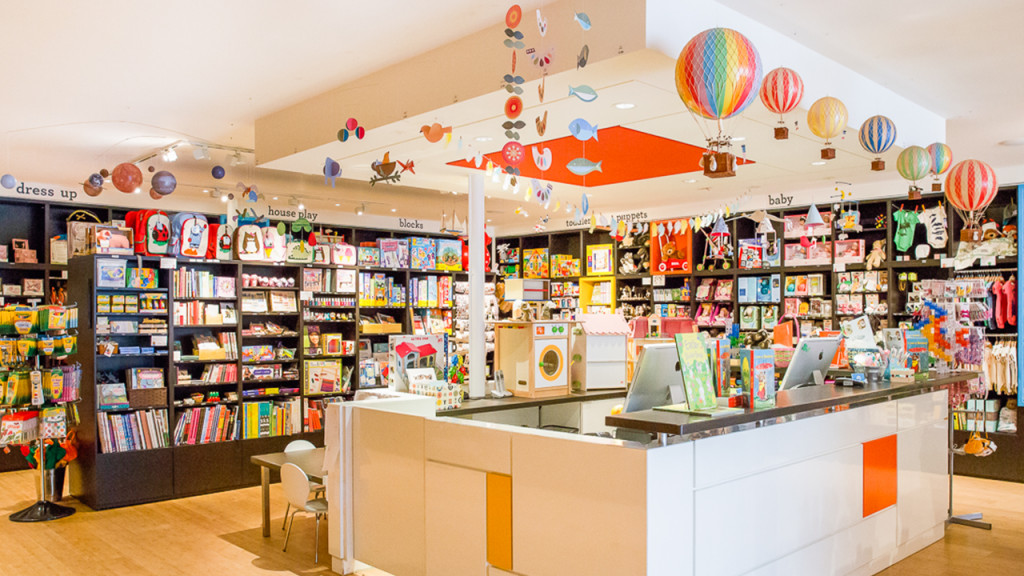 checkout at modern kids toy store