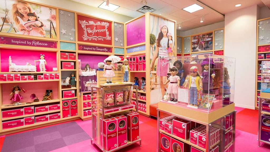 interior shot of American Girl boutique