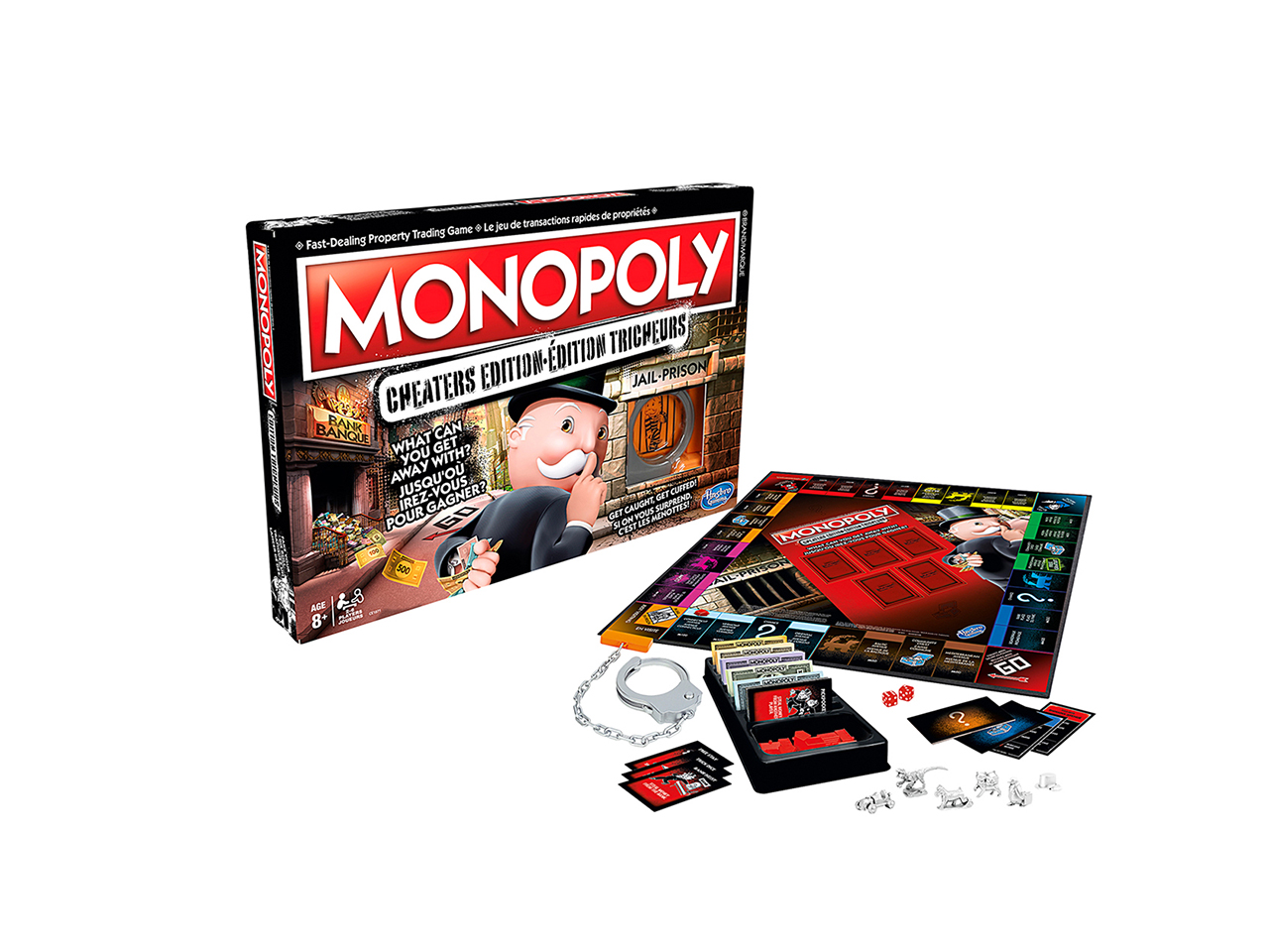 Monopoly Cheaters Edition Game: Packaging and board game set up