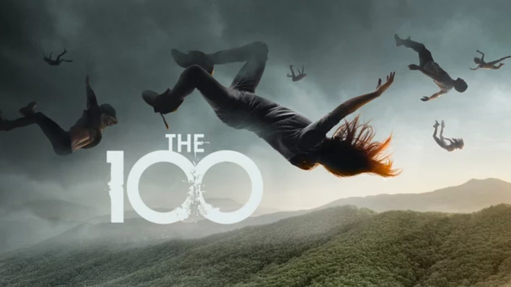 Promo image for The 100 showing people falling from the sky