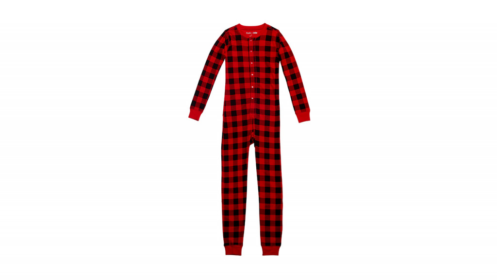 checked black and red onesie best family christmas pajamas