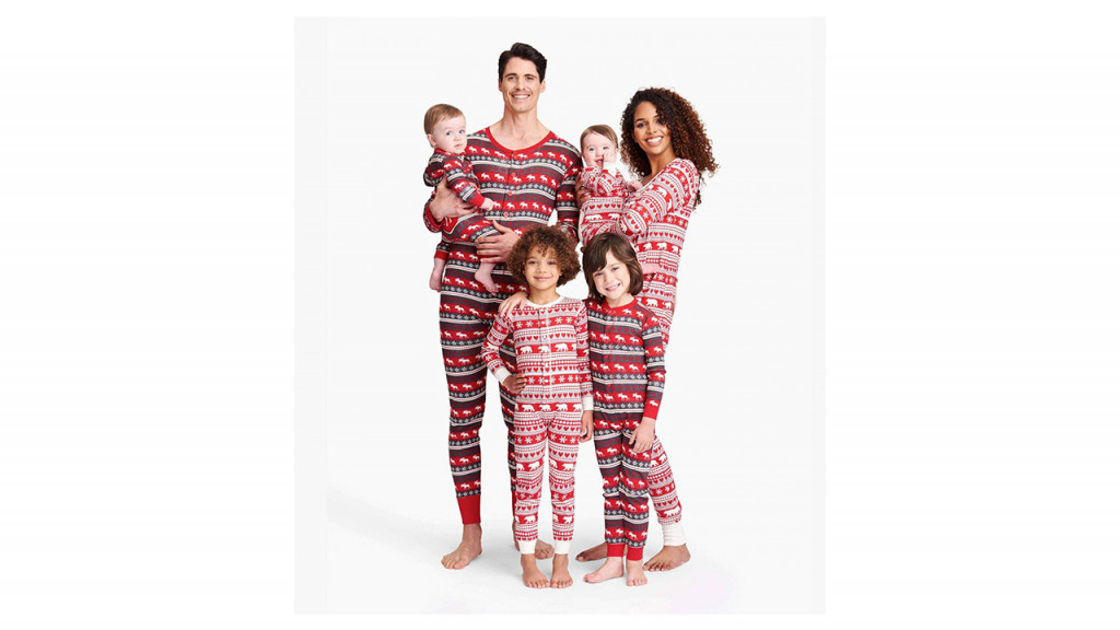 family in fair isle pjs