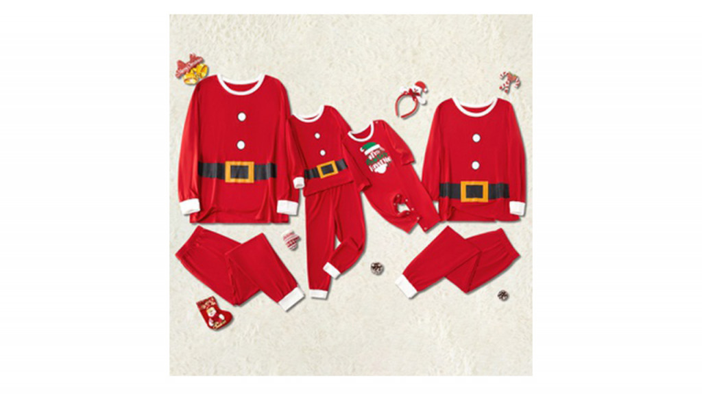 santa themed pj sets