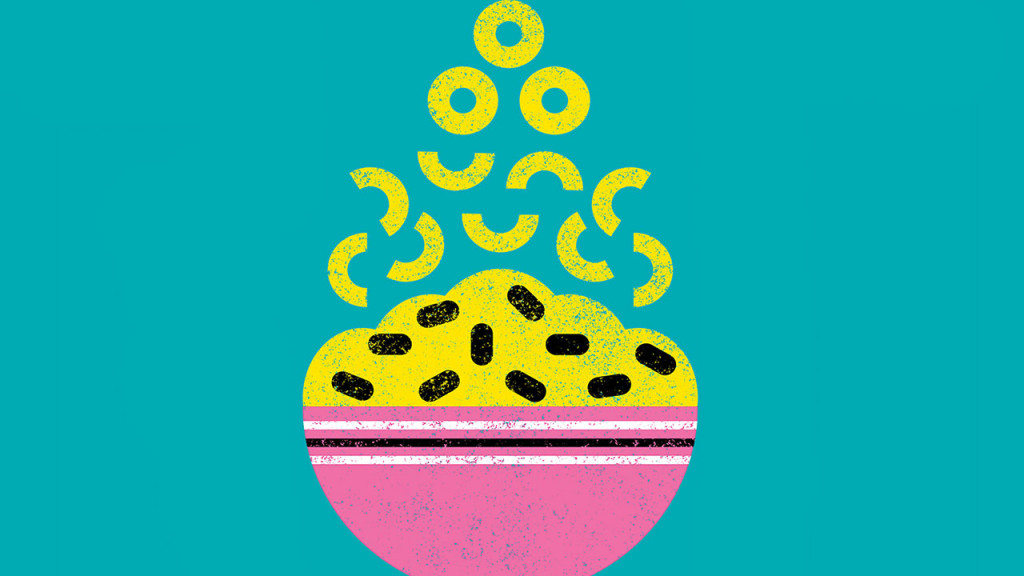 illustration of a bowl of macaroni
