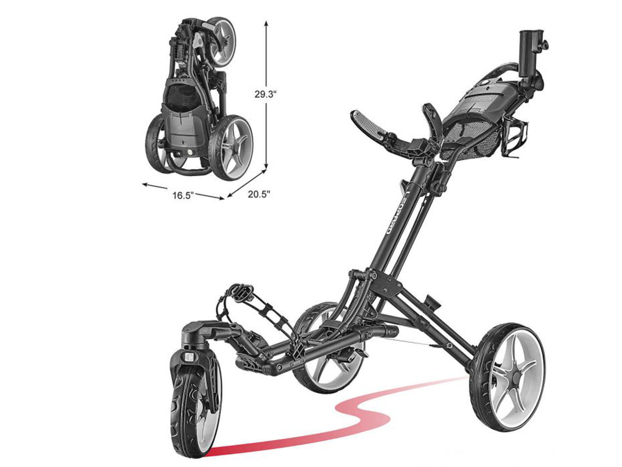 Caddy Tek Leopard Golf Push Cart
