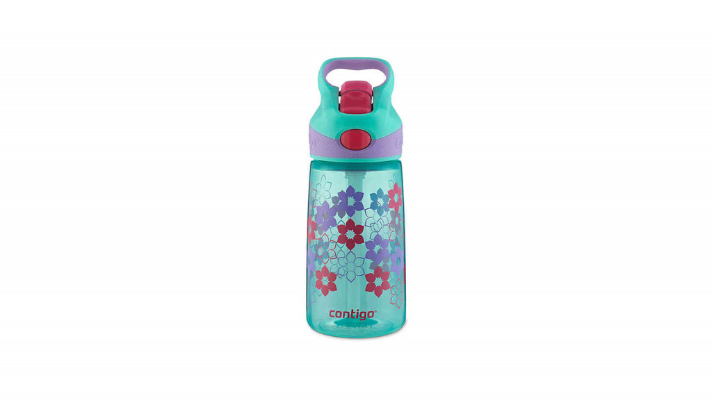 brightly coloured floral bottle