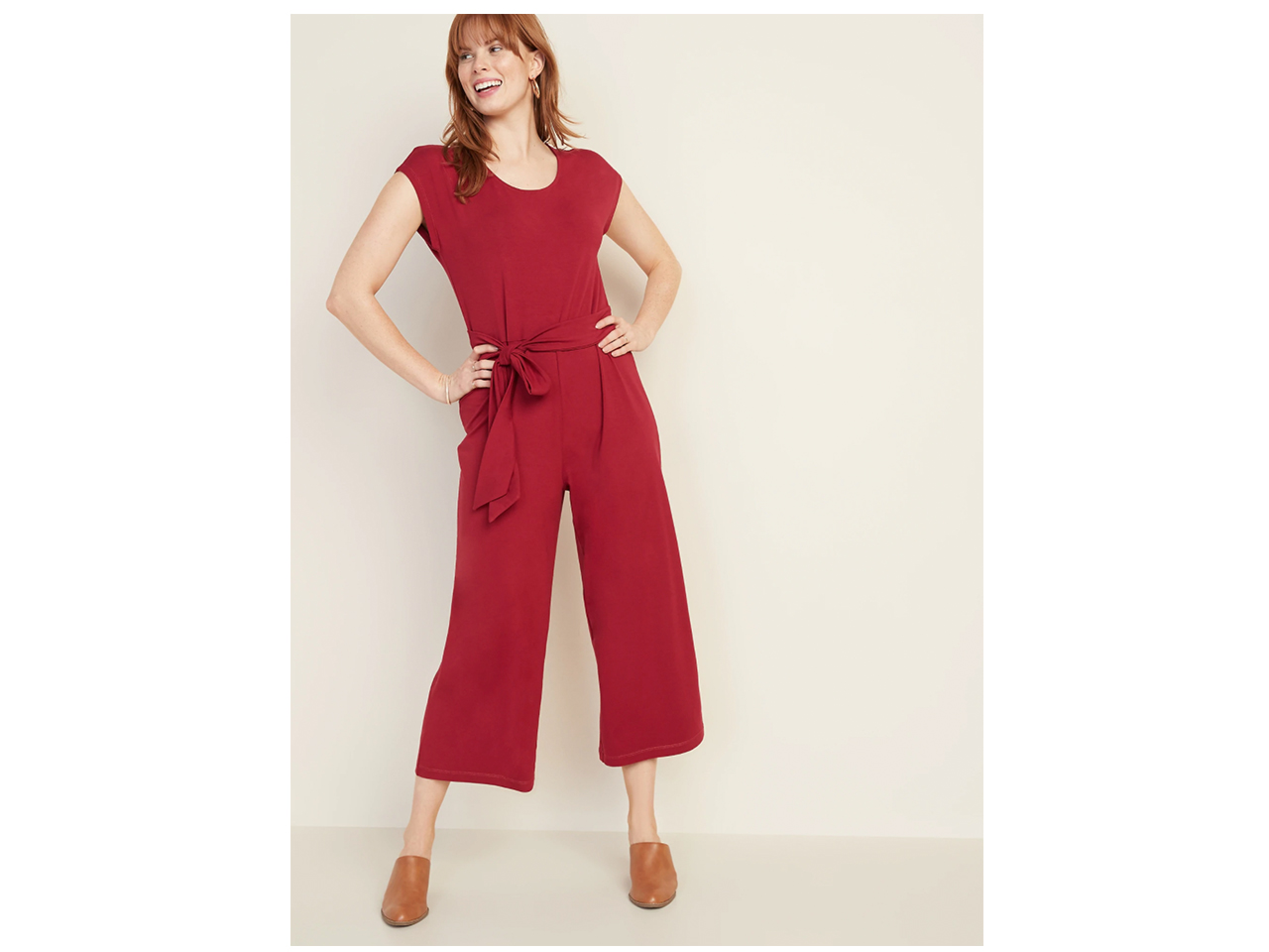 red romper with tie waist