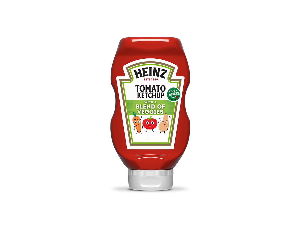 image of a bottle of heinz ketchup with veggies