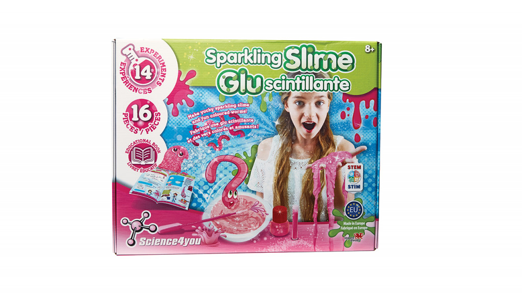 Sparkling slime experiment kit