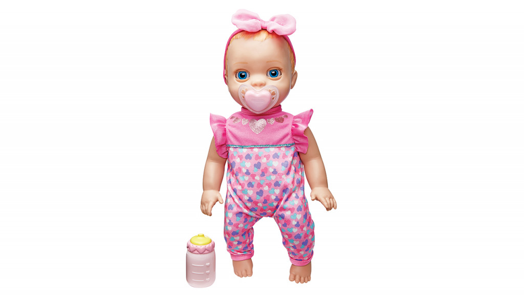 Luvabella baby doll preschool toy with her bottle