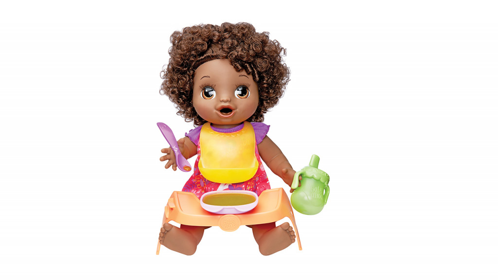Baby alive happy hungry doll with food