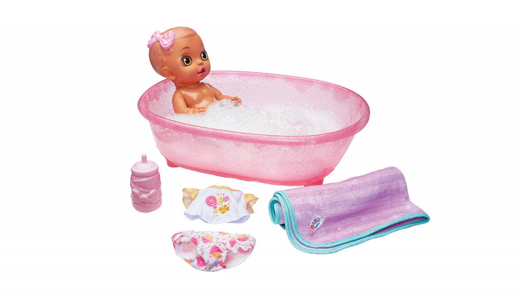 Baby born bathtub surprise doll and accessories