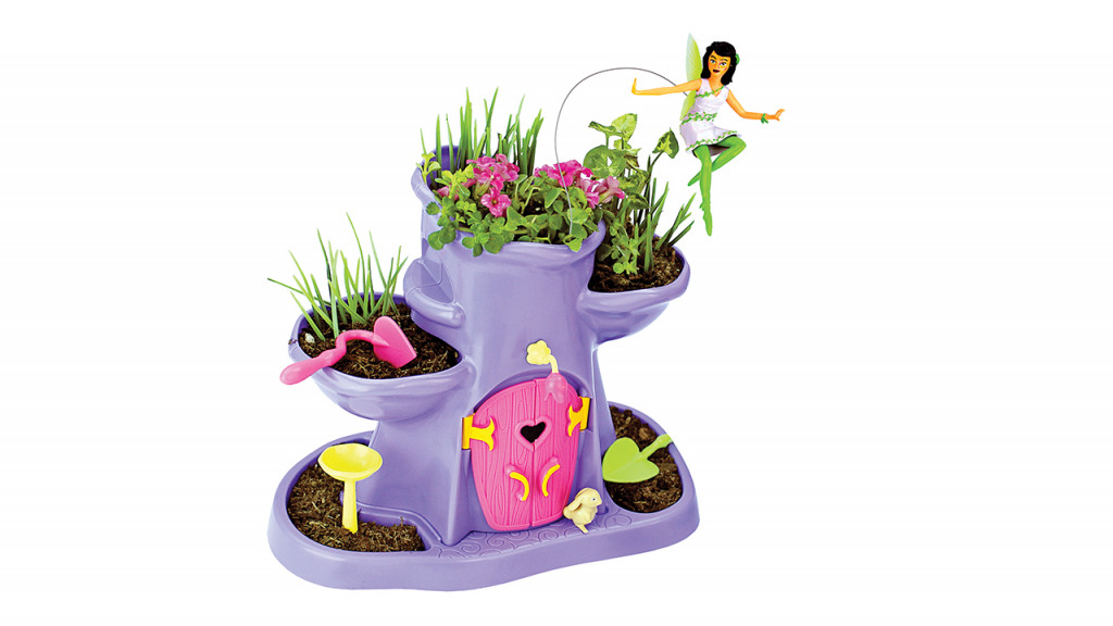 Fairy garden toy with seeds and fairy