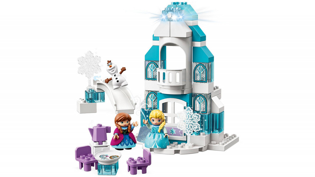 Lego Frozen castle with Elsa, Anna and Olaf