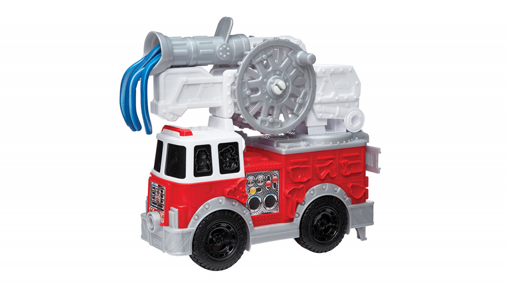 Play Doh fire truck with ladder and hose