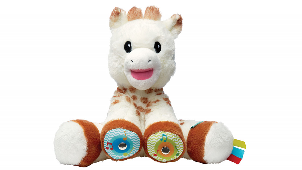 Sophie touch musical giraffe plush baby toy