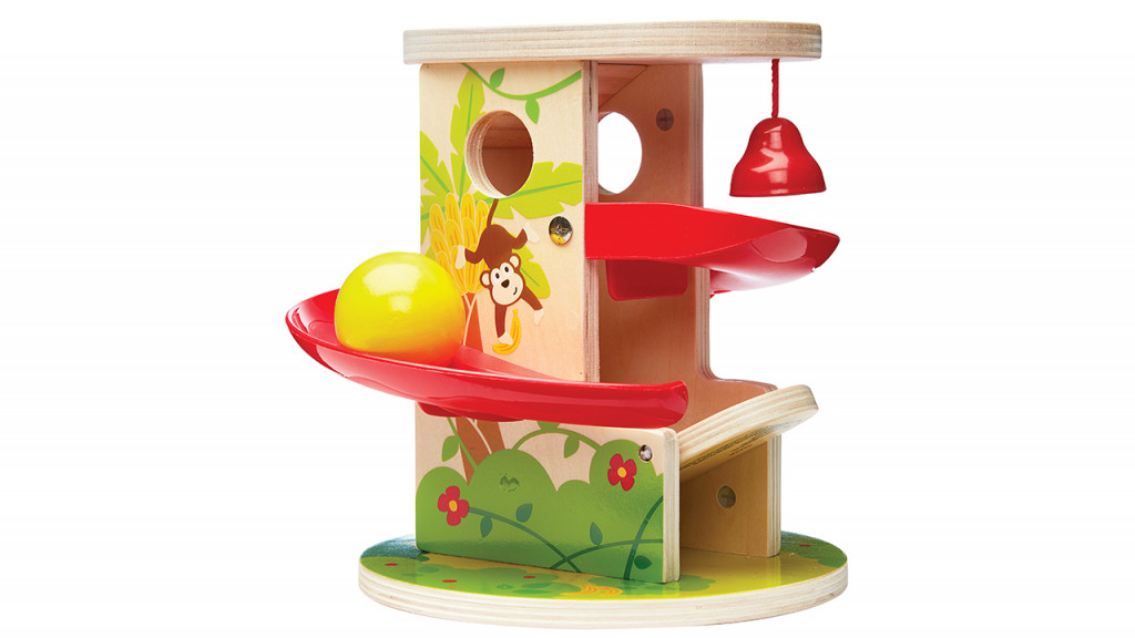 Jungle press and slide toy