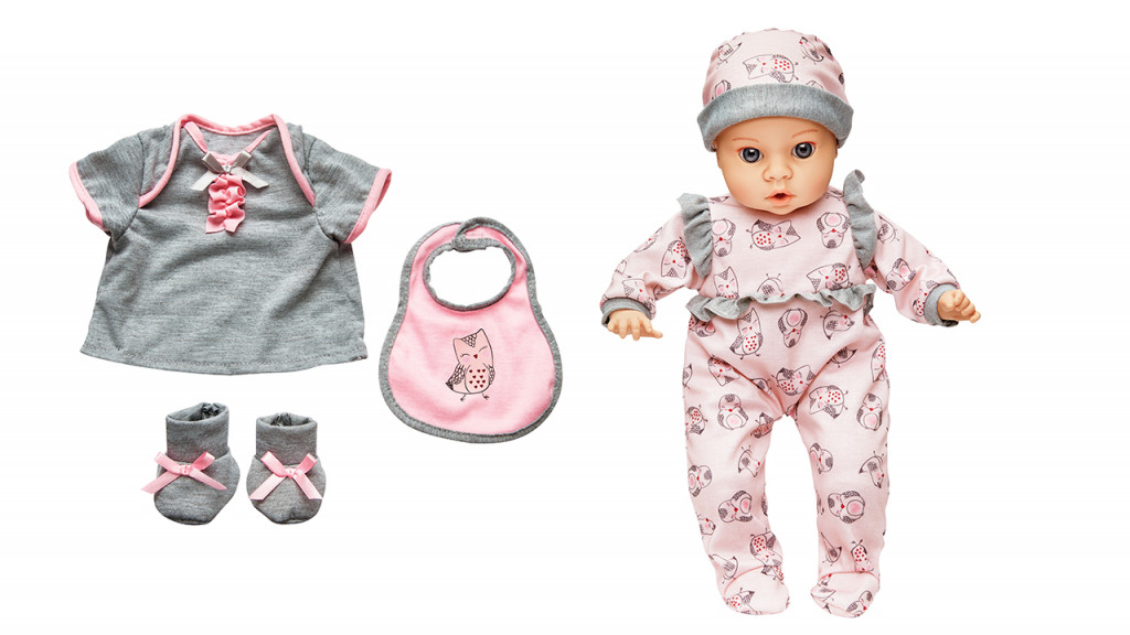 Lil cuddles doll and doll clothing
