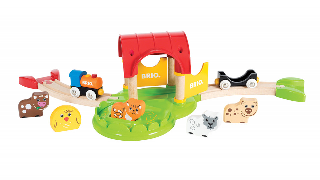 Brio railway farm with toy animals