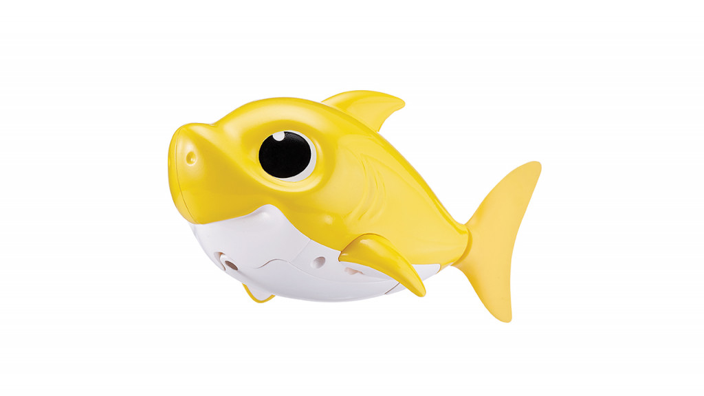 Robo alive baby shark toy in yellow