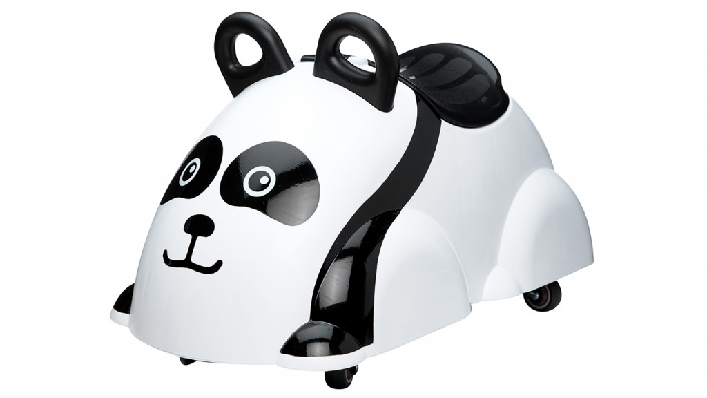 Viking cute rider panda toy