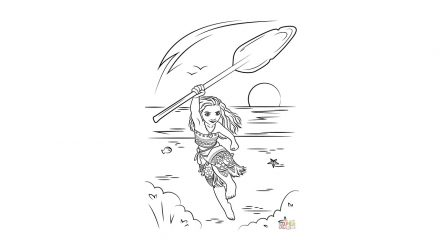 Colouring pages: Moana