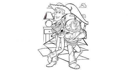 Colouring pages: Toy Story