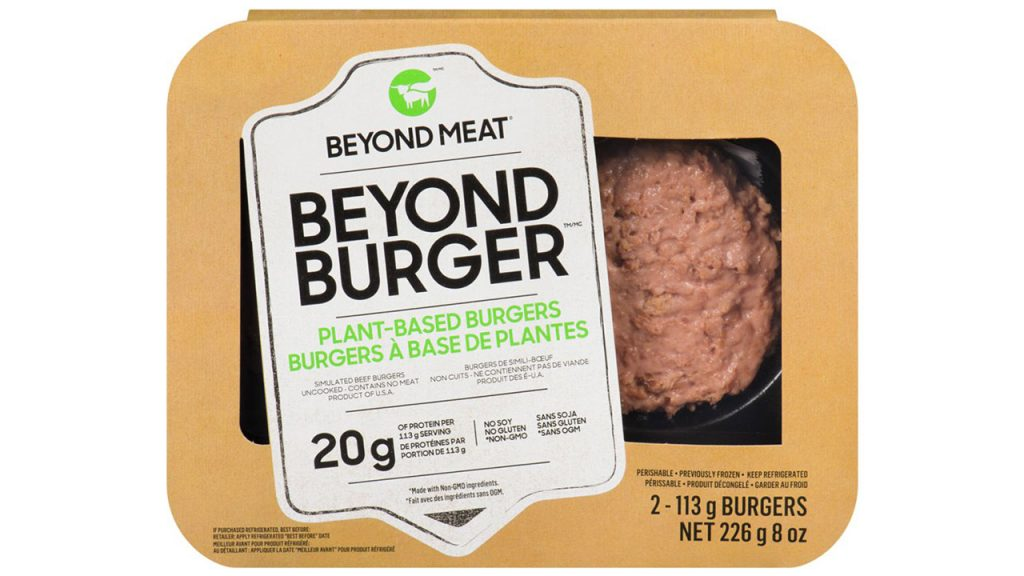 plant-based burger in package plant based meat alternatives