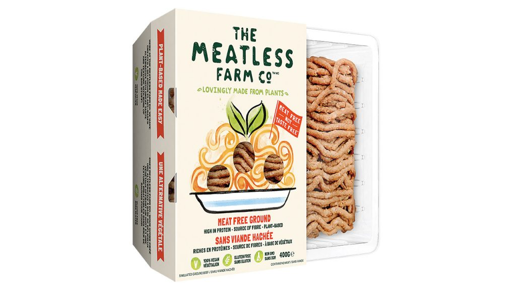 plant-based ground round in package plant based meat alternatives