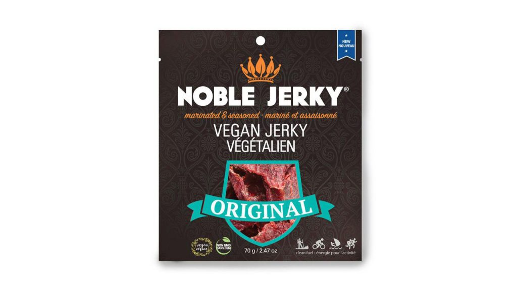 plant-based jerky in packagin